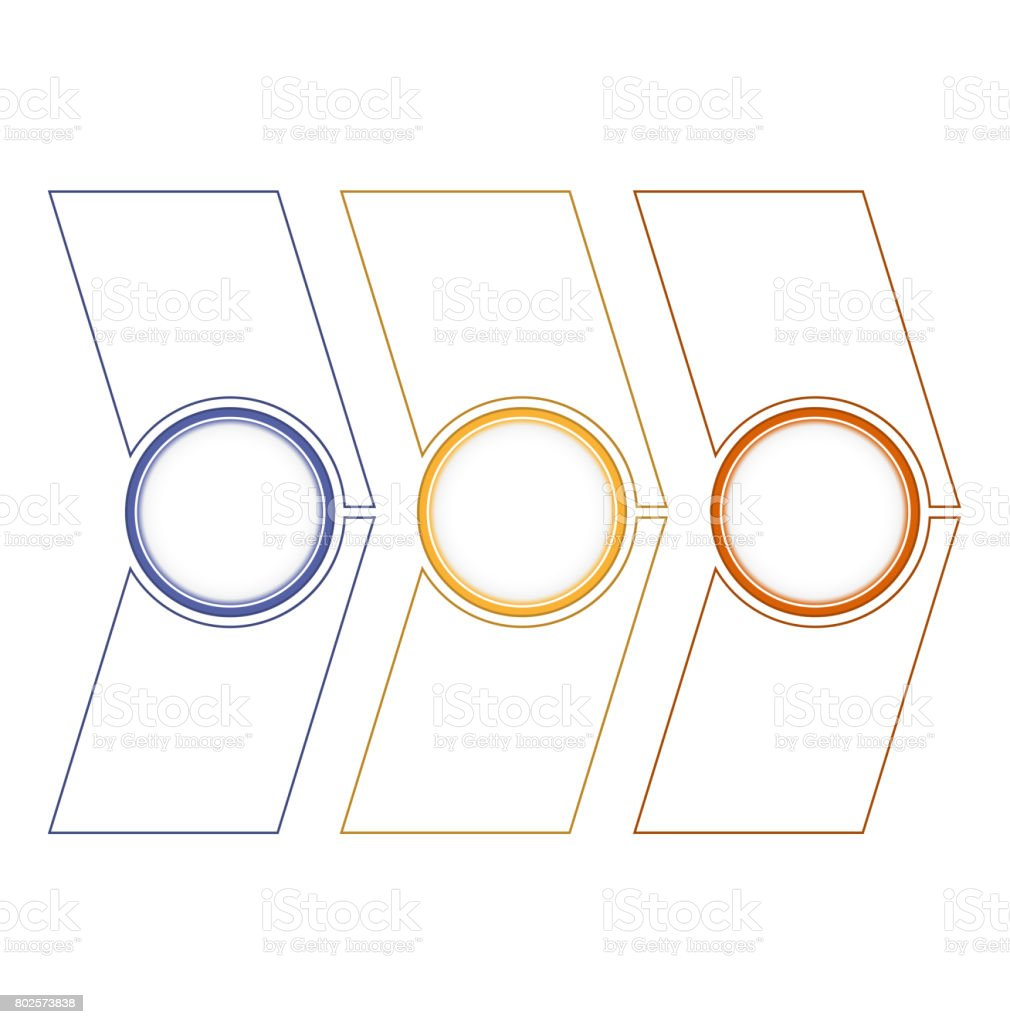 Timeline or area chart, diagram Template infographics 3 position stock photo