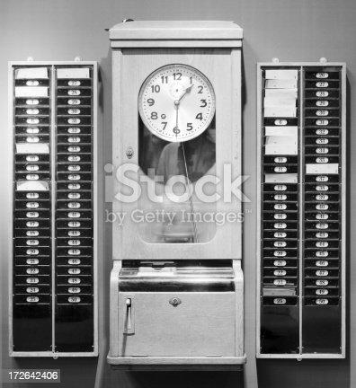 istock Time-punch machine 172642406
