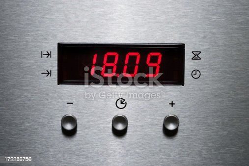 digital display of a microwave oven