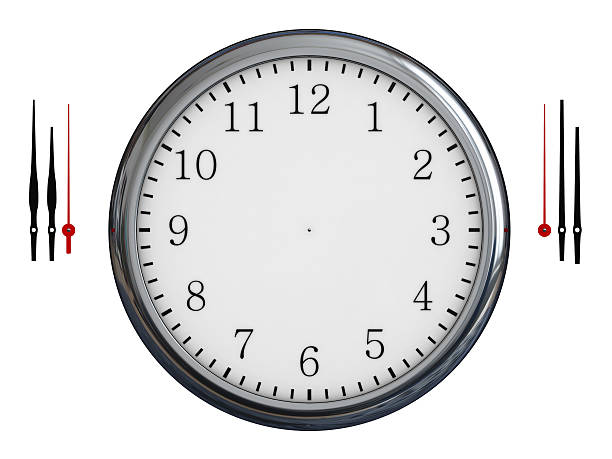 Timer Watch on a white background clock hand stock pictures, royalty-free photos & images
