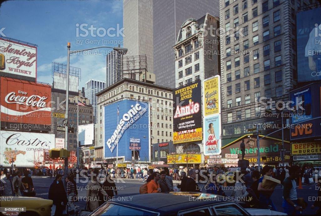 Times Square, 1980 stock photo