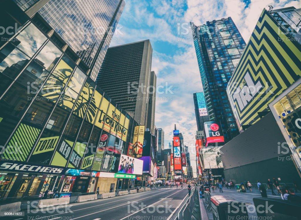 Times square 7ª av new york manhattan midtown América publicidade - foto de acervo