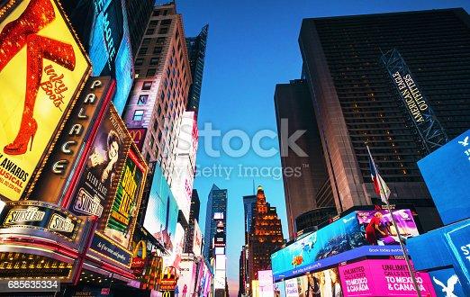 istock Times Square advertising illuminated at dusk 685635334