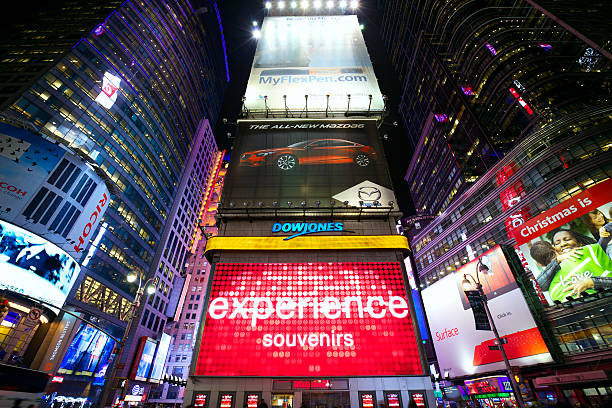 Times Square advertising stock photo