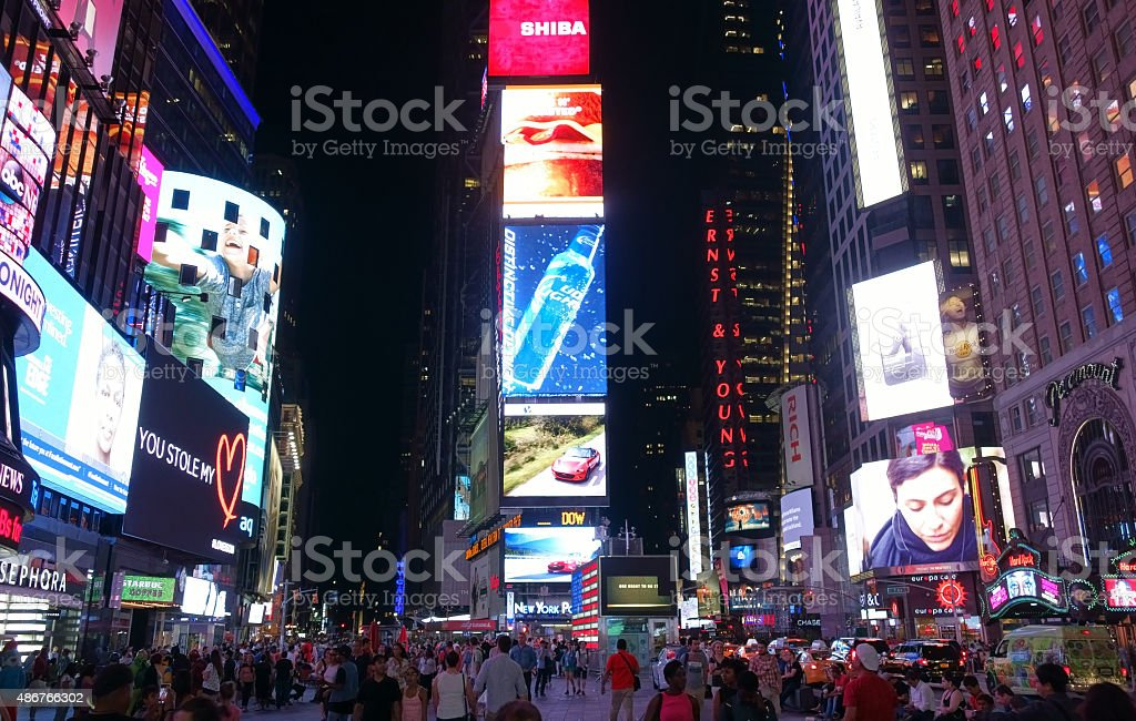 Times Square an der Broadway in Manhattan, New York – Foto