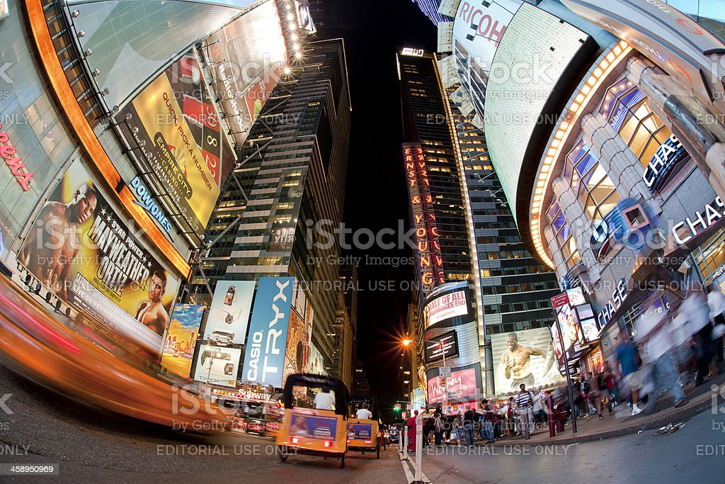Times Square at Night NYC stock photo