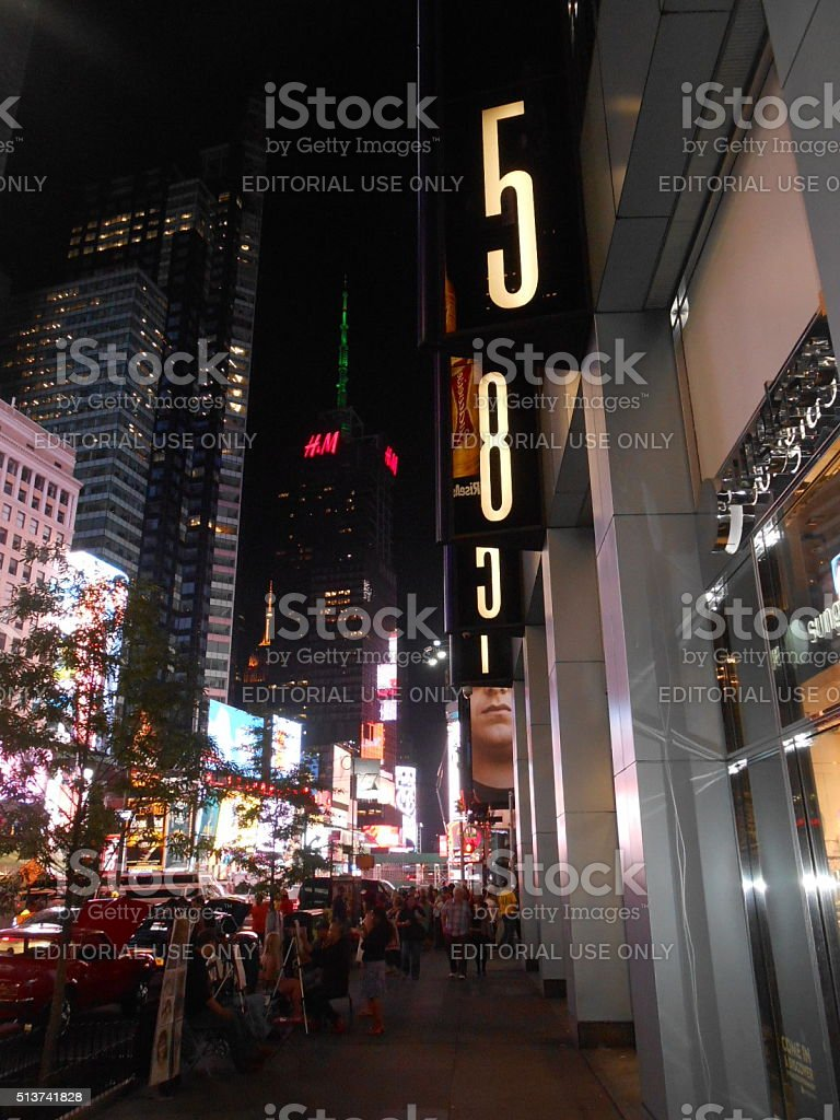 Times Square at Night. stock photo