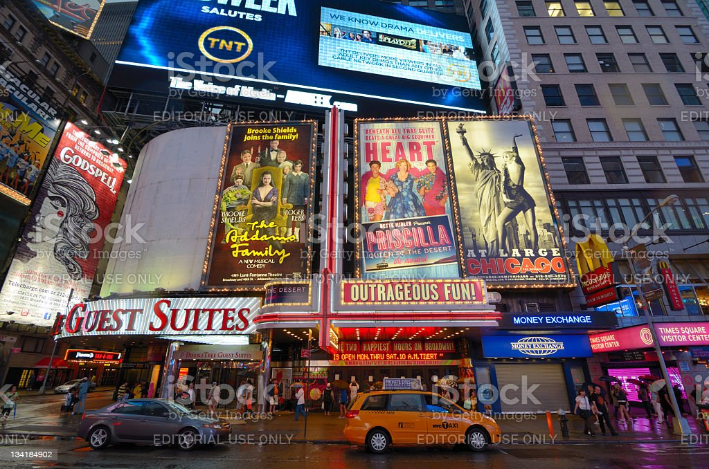 Times Square Billboards stock photo