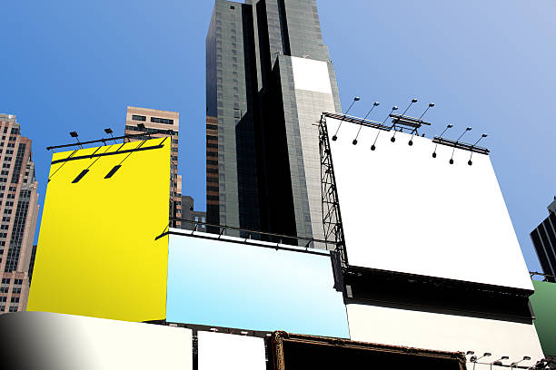 times square billboards - times square stock photos and pictures