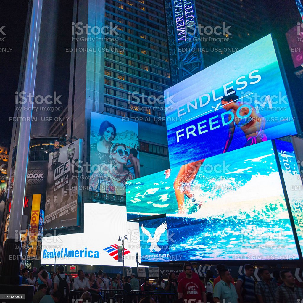 Times Square Billboards royalty-free stock photo