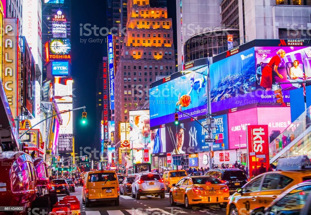 Times Square Colours stock photo