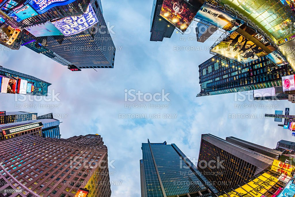 Times Square, featured with Broadway Theaters and huge number of stock photo