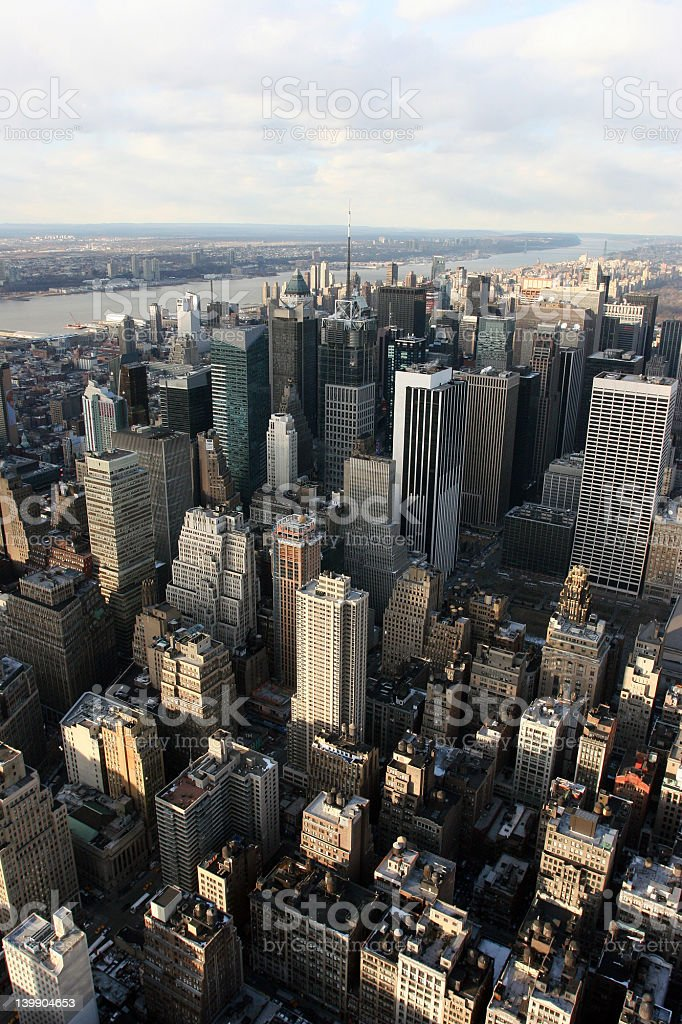 Times Square from the Empire State Building royalty-free stock photo