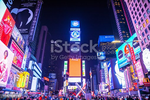 981808424 istock photo Times Square in New York City 1142408140