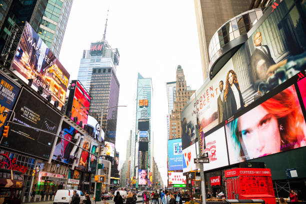 Times Square in New York City Times Square in New York City commercial sign stock pictures, royalty-free photos & images