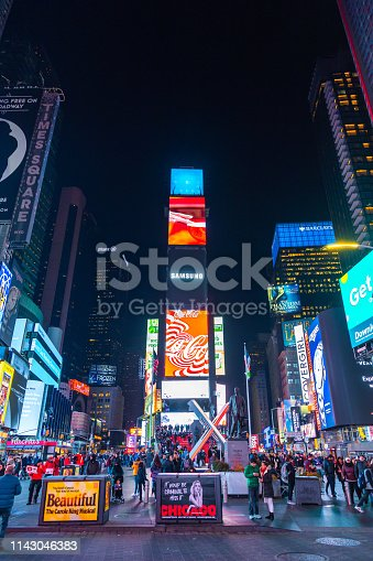 981808424 istock photo Times Square in New York City 1143046383