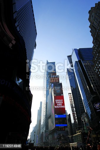 981808424 istock photo Times Square in New York City 1192014946