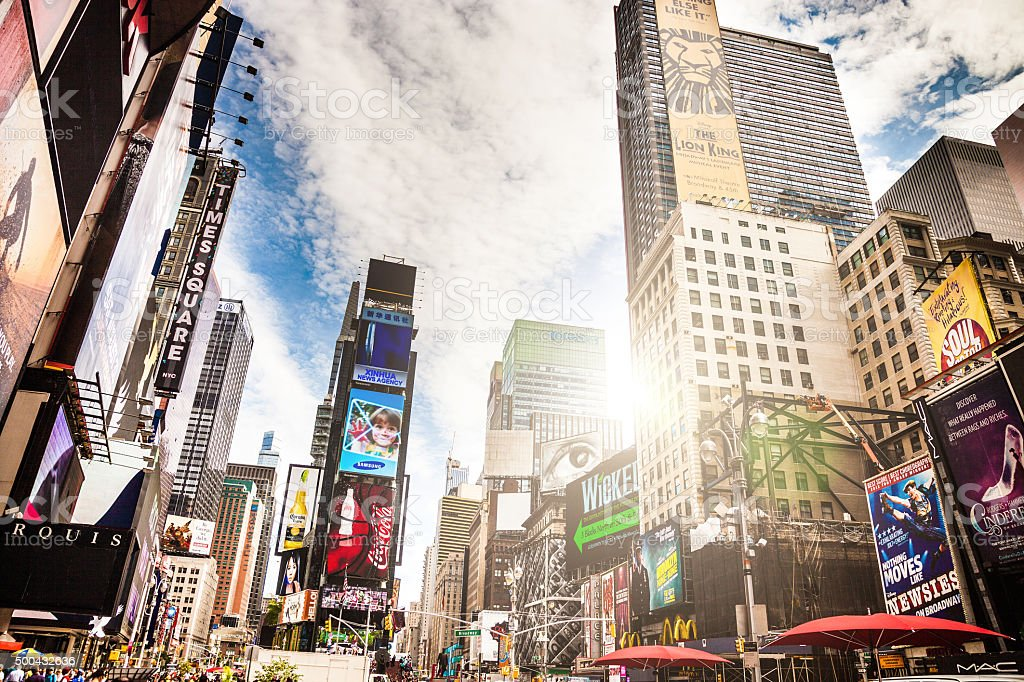 Times Square in New York stock photo