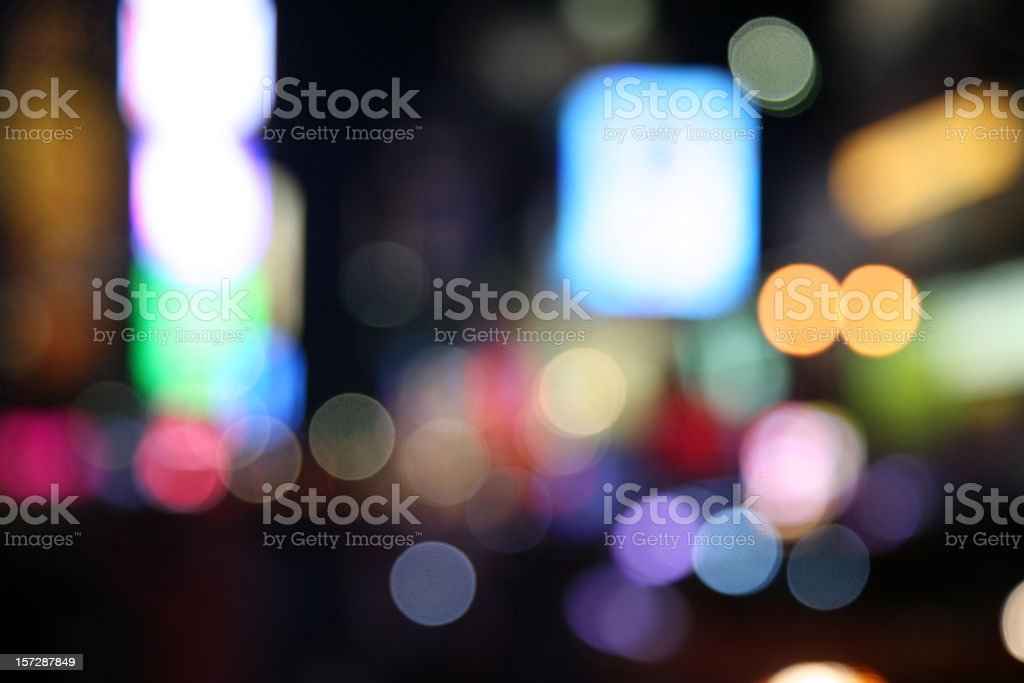Times Square Lights, Defocused royalty-free stock photo