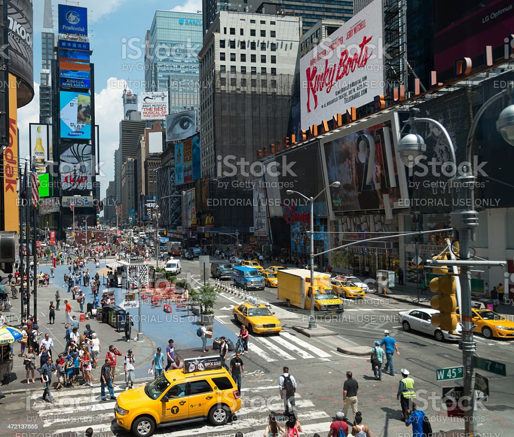 Times Square Manhattan royalty-free stock photo