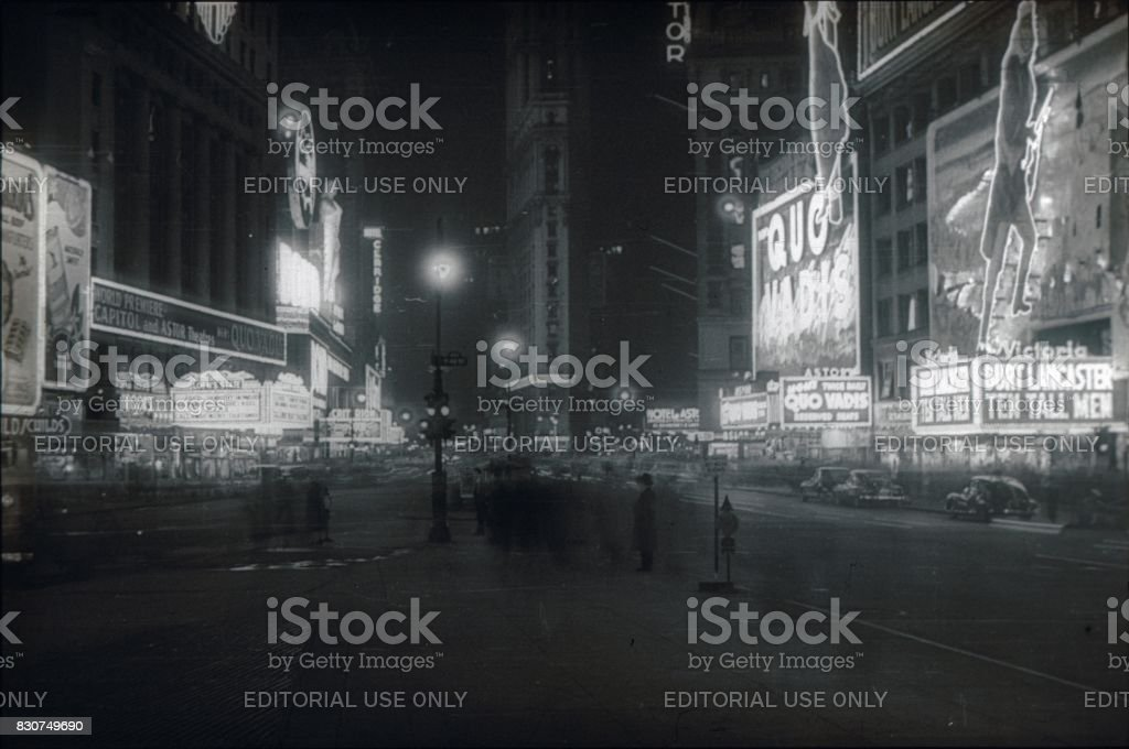 Times Square, New York City, 1951 stock photo