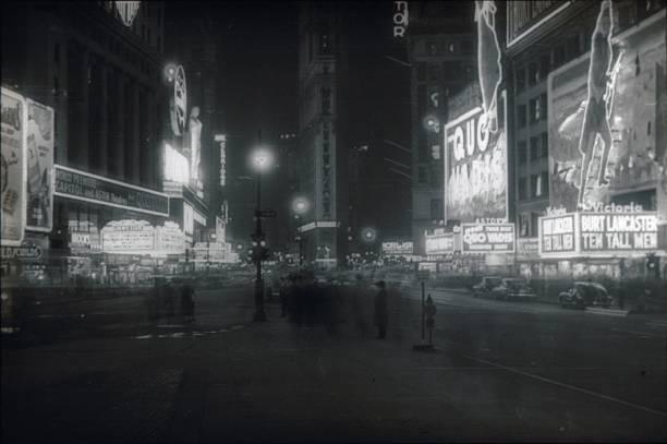 times square, new york city, 1951 - celebrities of age bildbanksfoton och bilder