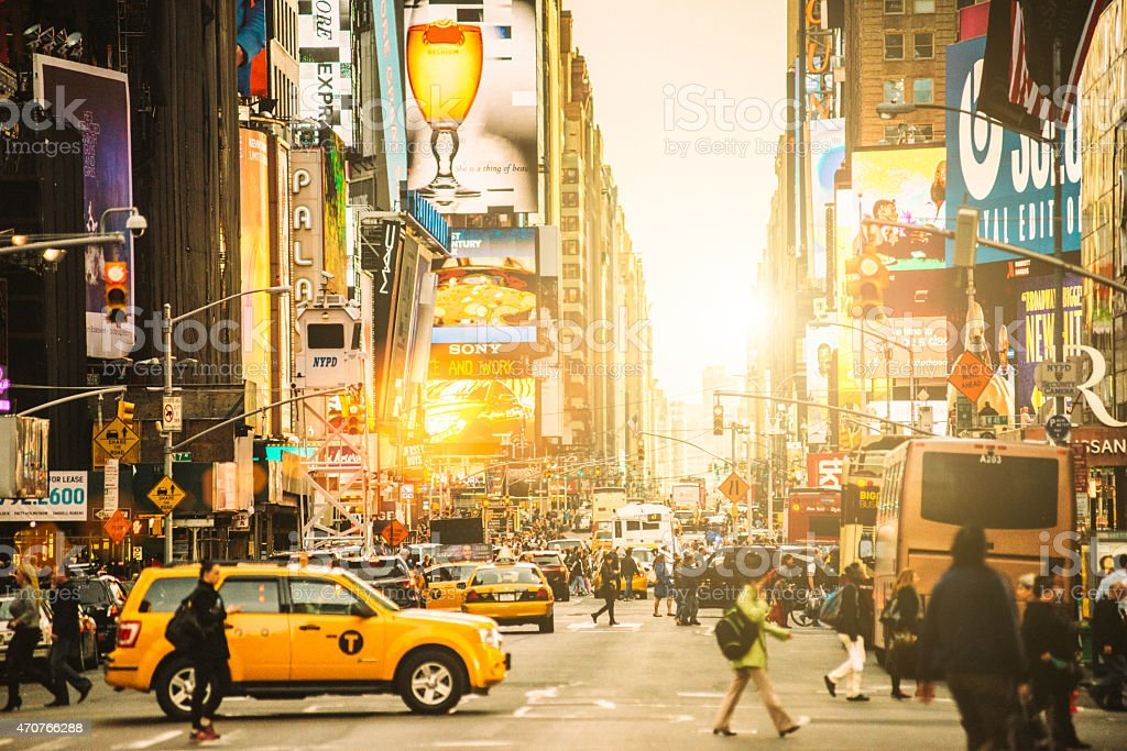 Times Square New York City - foto de acervo
