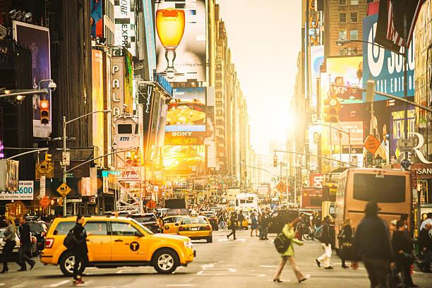 Times Square New York City - foto de acervo