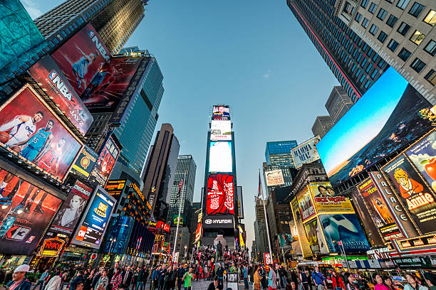 times square new york city - times square stock photos and pictures
