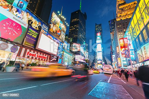 istock Times Square New York City Taxi Traffic 680199882