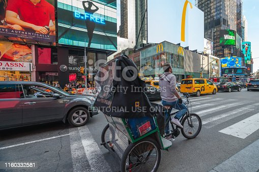istock Times Square, New York City. Traffic, Taxi Car, Street View, Neon Art, Billboards. 1160332581
