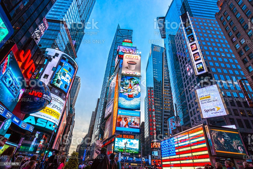 Times Square, New York City, USA. stock photo