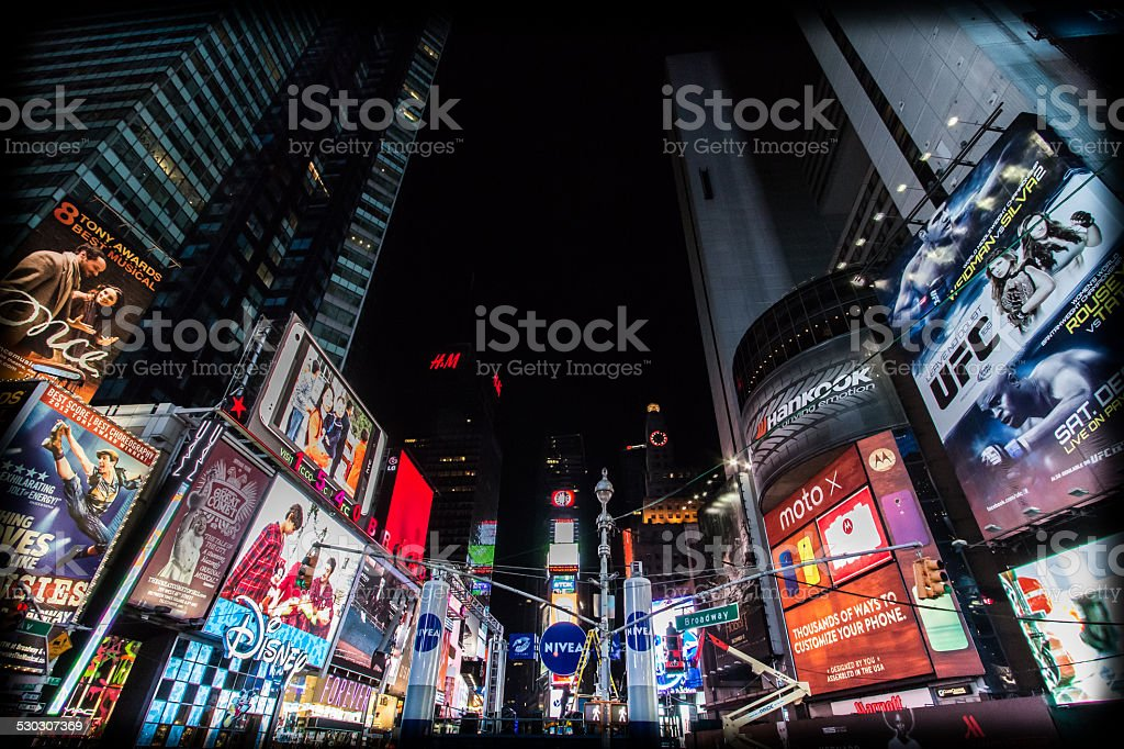 Times Square - New York, few days before New Year stock photo