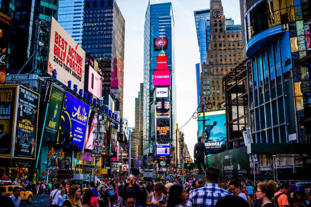 times square, new york - times square stock photos and pictures
