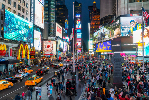 Times Square New York Stock Photo - Download Image Now ...