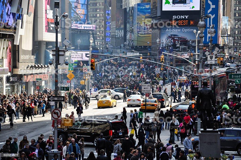 Times Square, Nova York, EUA - foto de acervo