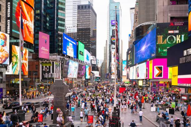 Times Square NY stock photo