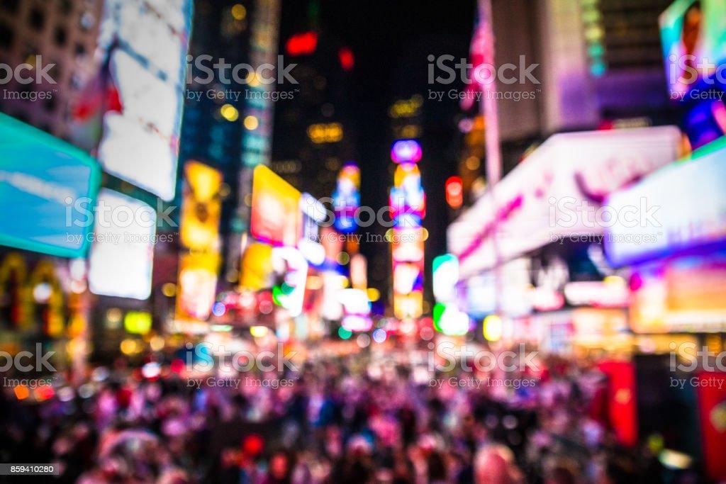 Times Square NYC desfoque - foto de acervo