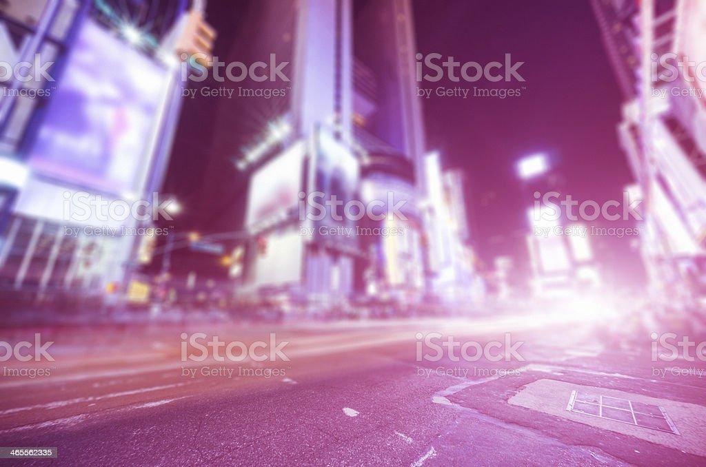 Times square on manhattan royalty-free stock photo