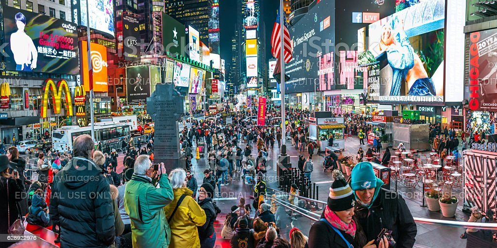 Times Square Panorama royalty-free stock photo
