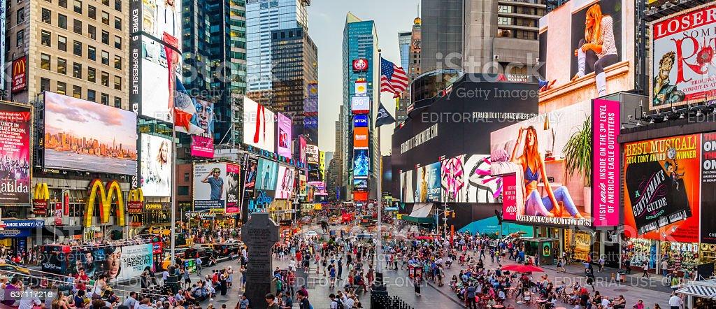 Times Square panorama stock photo