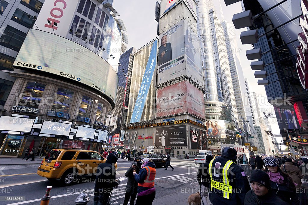Times Square Pedestrians royalty-free stock photo