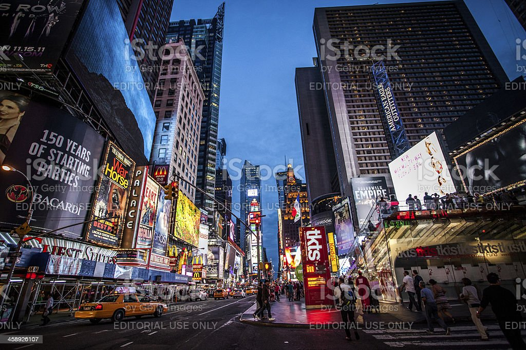 Times Square royalty-free stock photo
