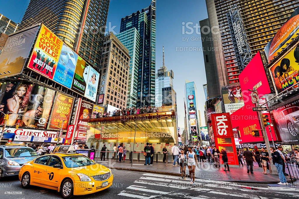 Times Square Scene stock photo