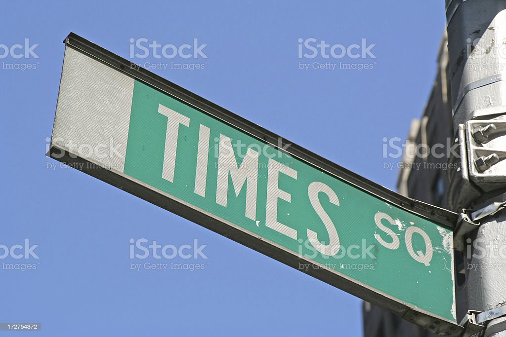 Times Square sign stock photo