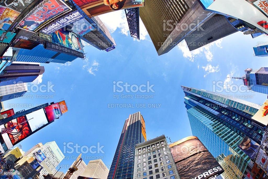 Times Square skyscrapers stock photo