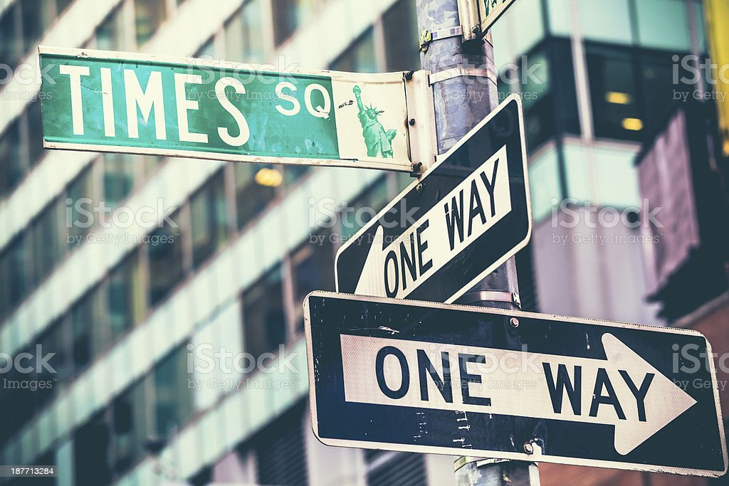 Times Square Street Sign in New York City royalty-free stock photo