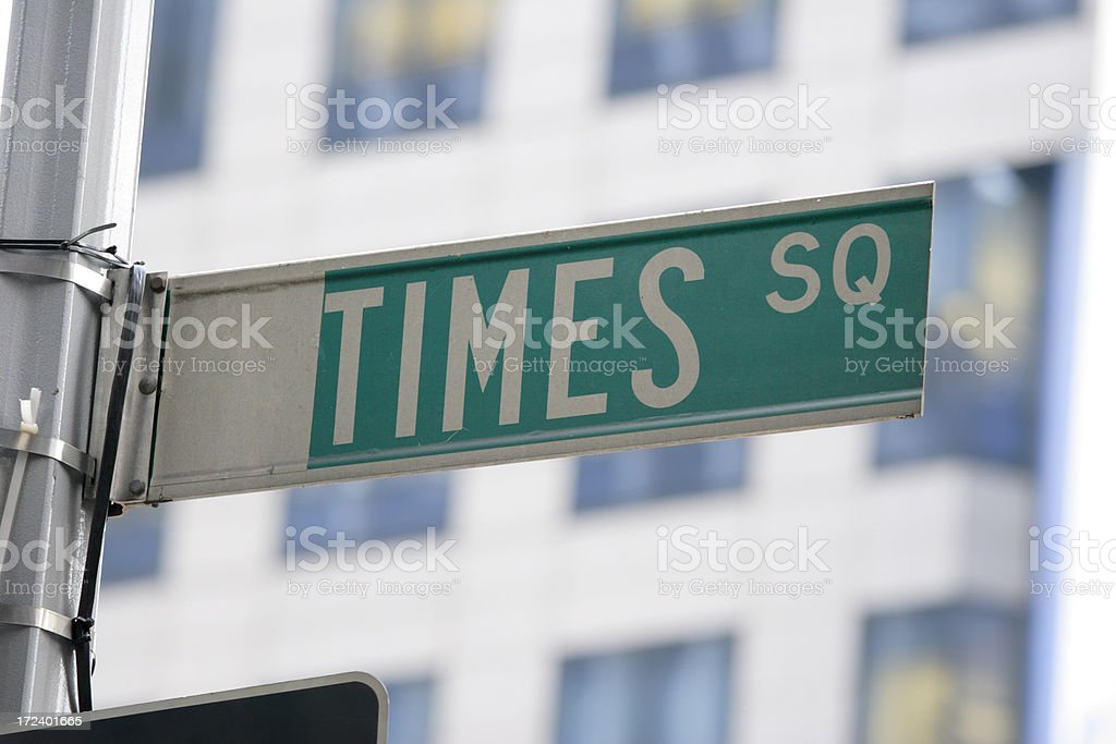 Times Square Street Sign New York royalty-free stock photo