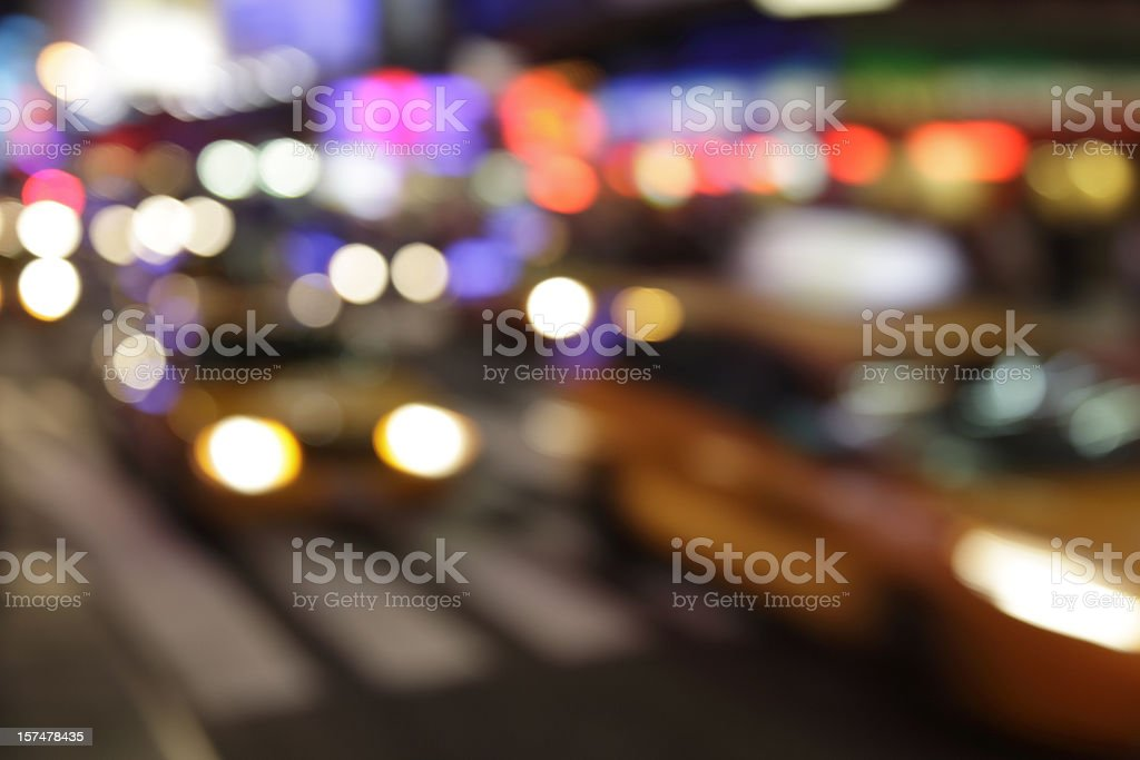 times square streetlife at night defocused royalty-free stock photo