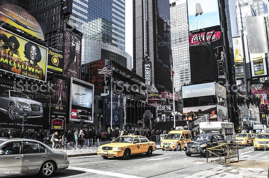 Times Square traffic stock photo